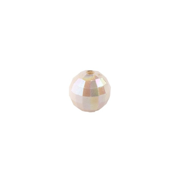Perlen, facettiert, Ø 4mm, creme-irisierend, 200 Stk.