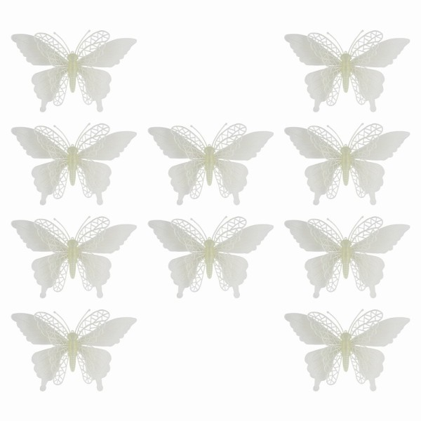 Deko-Schmetterlinge, Rohlinge, 13cm x 17cm, 10 Stück