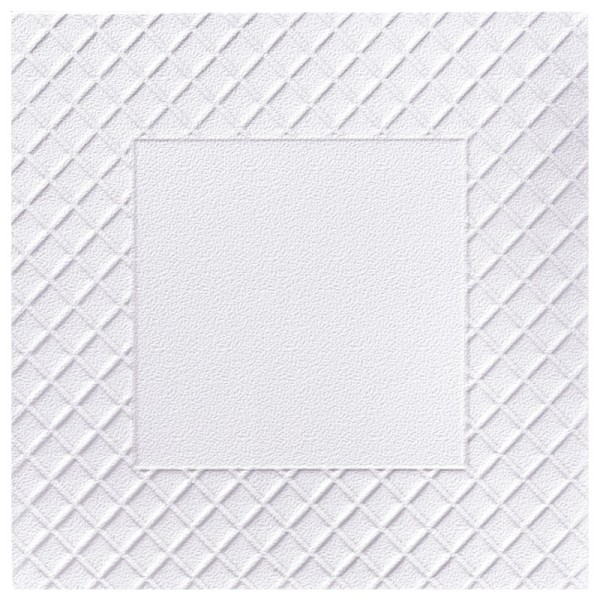Exquisit-Grußkarten mit Top-Prägung, 14,3 x 14,3 cm, 10 Stück, weiß