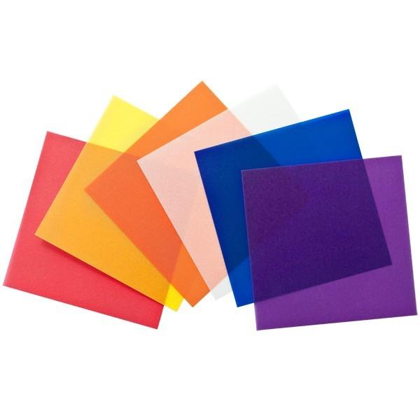 Transparentpapiere, 6 Farben, 8 x 8 cm, 120 Stück