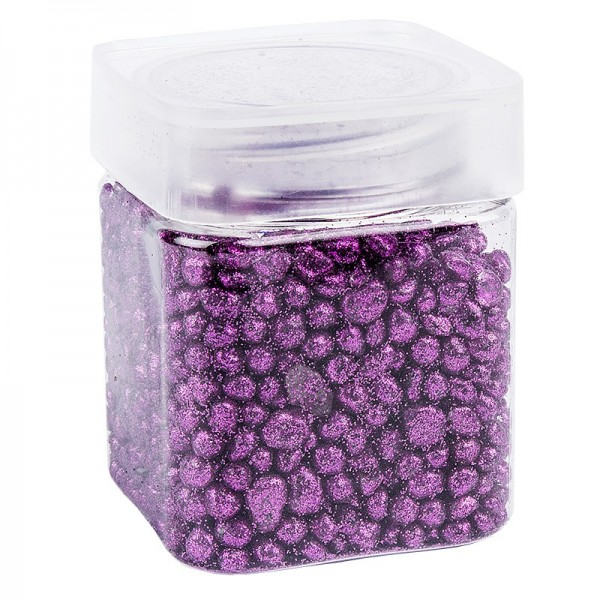 Glitzernuggets aus Glas, violett, 2mm bis 7mm, 260g