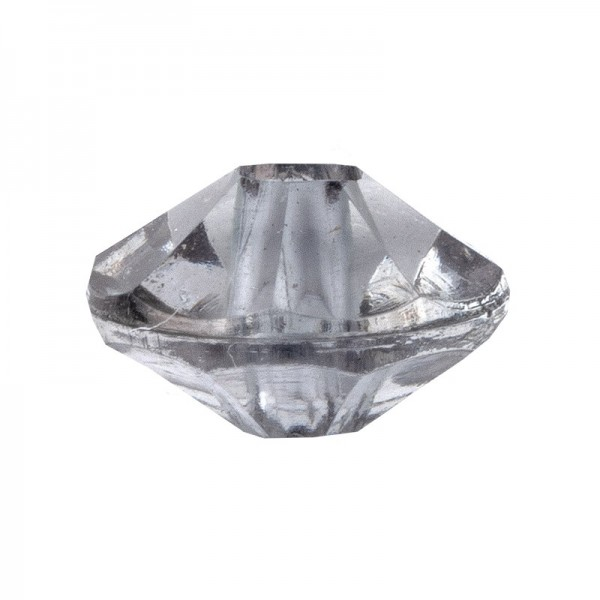 Facetten-Perlen, transparent, Ø6mm, anthrazit, 100 Stück