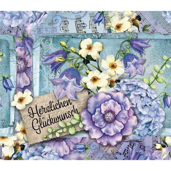 Zauberfolien, Blumen & Glückwunsch, Schrumpffolien für Ø 9cm, 25cm hoch, 2 Stück