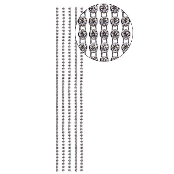 Premium-Schmuck-Bordüren Jolina, 29cm, mit Glas-Kristallen, anthrazit