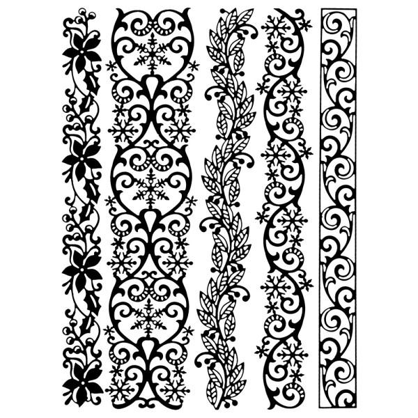 Stanzschablonen, Bordüren, verschiedene Designs, 5 Stück
