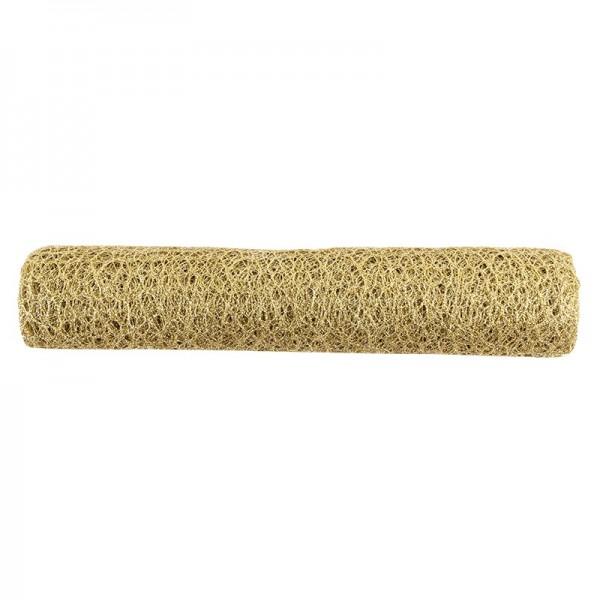 Deko-Stoff, Netzoptik 1, 28cm breit, 3m lang, gold