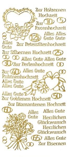 Sticker, Schrift, verschiedene Hochzeiten, gold