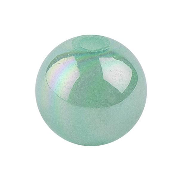Perlen, irisierend, Ø 10mm, grün-irisierend, 50 Stk.