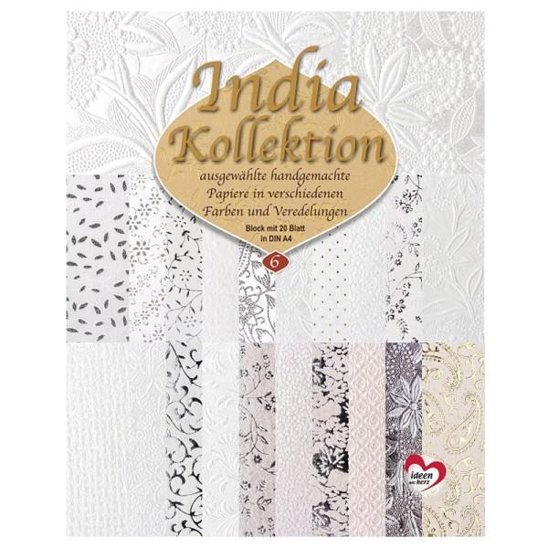India Kollektion, DIN A4, Block mit 20 Blatt, Sortierung 6