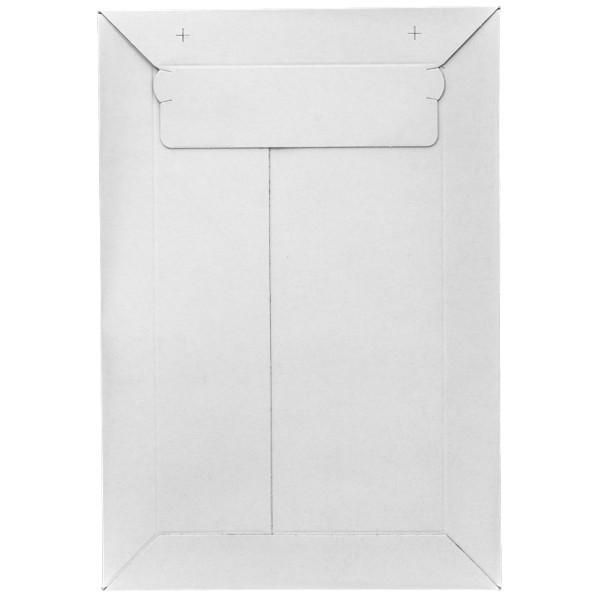 Versandtasche aus Vollpappe, DIN A5, selbstklebend, weiß