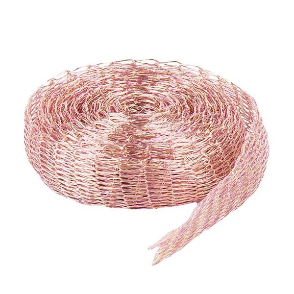 Titan-Mesh Collier-Band, 1 cm x 1 m, lachs/rosa meliert