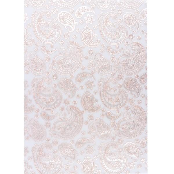 Transparentpapiere, Nova Noblesse 4, mit Top-Prägung & Perlmuttlack, DIN A4, 5 Bogen, apricot