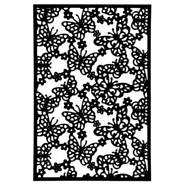 Stanzschablone, Kartenaufleger Schmetterlinge, 13,7cm x 9,3cm