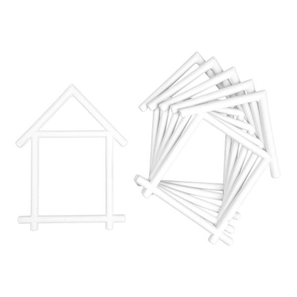 Deko-Hausrahmen, Rohlinge, 15,5cm x 21cm, 6 Stück