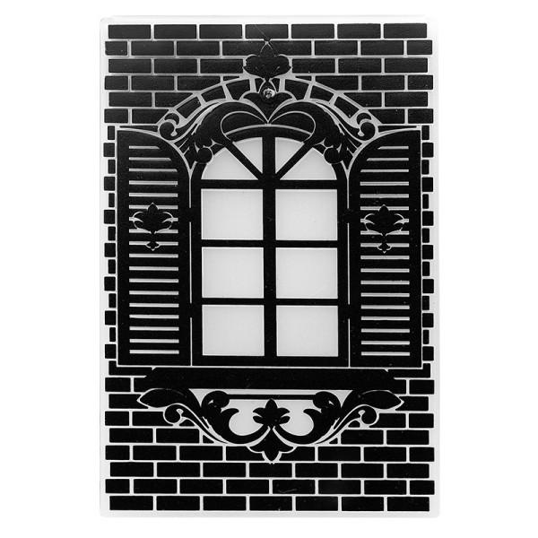 Prägeschablone, Fenster, 14,5cm x 9,5cm