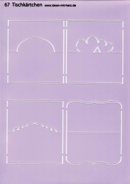 """Design-Schablone Nr. 67 """"Tischkärtchen"""", DIN A4"""