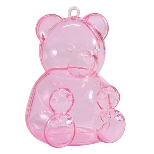 Acryl-Teddy, 5,2 x 4,5 x 7,4 cm, pink