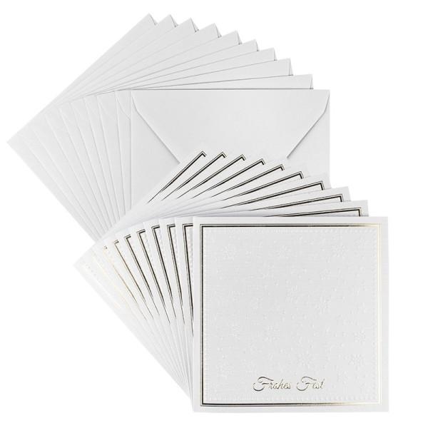Grußkarten, Frohes Fest, 14cm x 14cm, inkl. Umschläge, 10 Stück