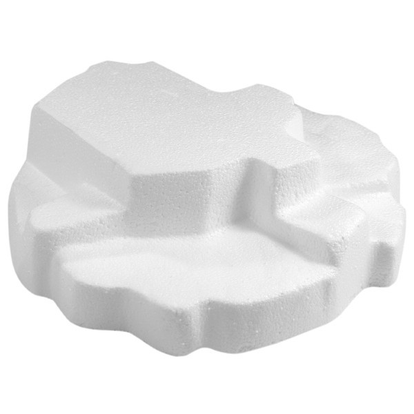 Styropor-Podest Eisscholle, 18 x 18 x 5cm