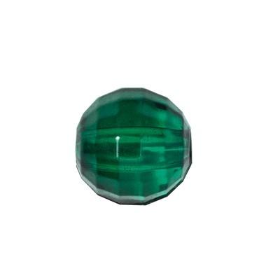 Facetten-Perlen, transparent, Ø6mm, 100 Stück, dunkelgrün