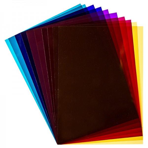 Windradfolie, nicht klebend, DIN A4, 200 µ, 5 Farben, 10 Stück