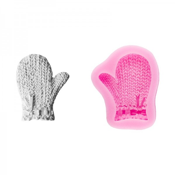 Silikon-Form, Relief-Handschuh, 6cm x 4,8cm
