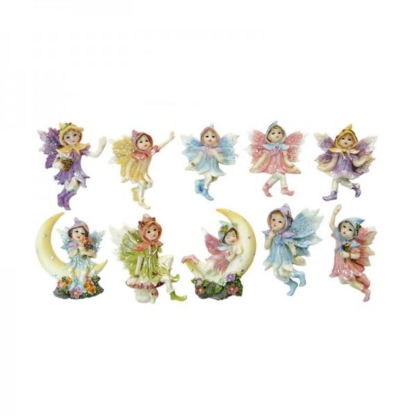 Relief-Elfen, 10 Stück, farbig