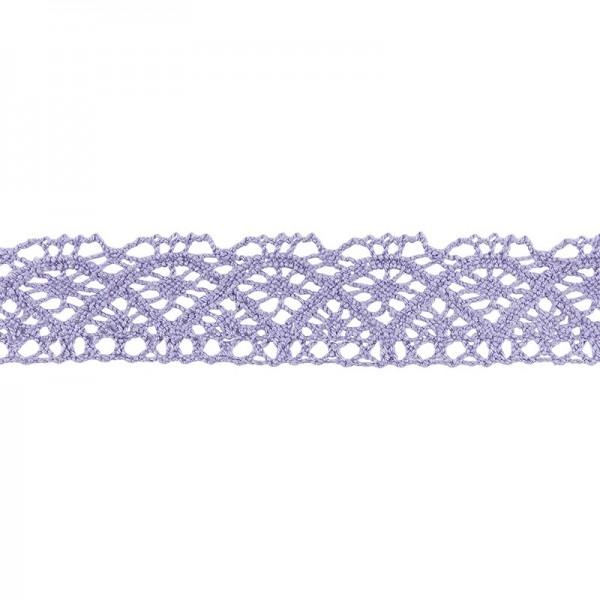 Häkelspitze Design 1, 2,1cm breit, 2m lang, flieder