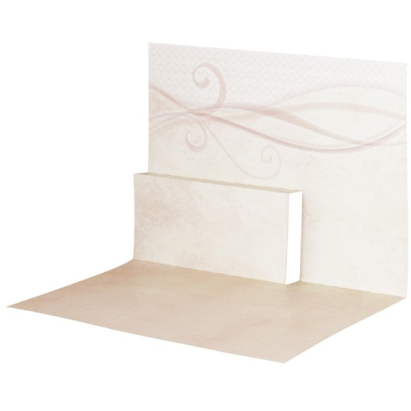Pop-Up-Grußkarten-Einleger, gefaltet 11 x 15,5 cm, Schwung, beige