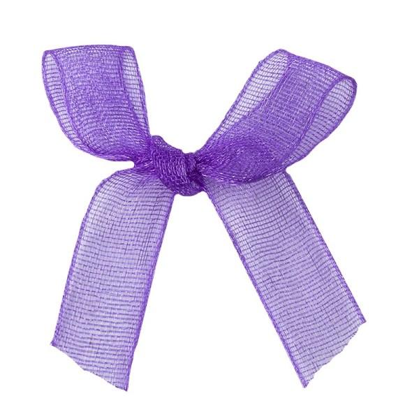 Schleifen, Organza, Bandbreite 7mm, 50 Stück, violett