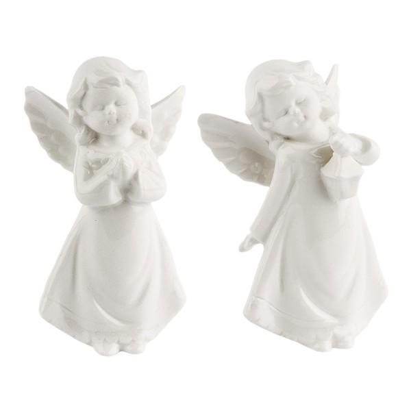 Deko-Figuren, Engel, 8cm / 8,5cm hoch, stehend, 2 Stück