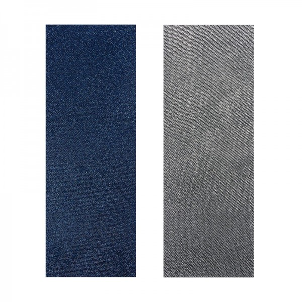 "Stoffe Royal ""Eleganz"", selbstklebend, 10 x 29 cm, 2 Stück, silber & blau"