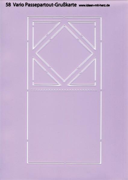 """Design-Schablone Nr. 58 """"Vario Passepartout-Grußkarte"""", DIN A4"""