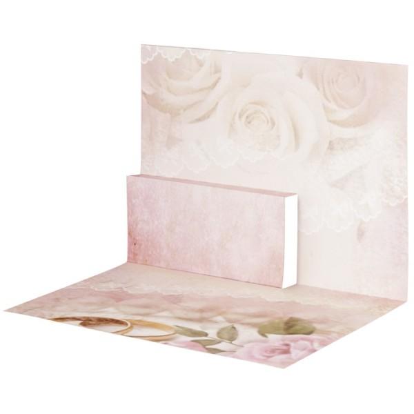 Pop-Up-Grußkarten-Einleger, gefaltet 11 x 15,5 cm, Ringe