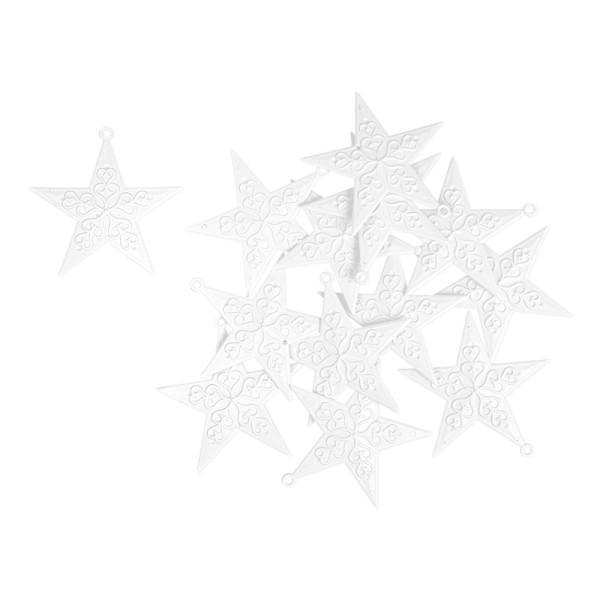 Deko-Sternornamente 1, Rohlinge, 8,5cm x 8,5cm, 13 Stück