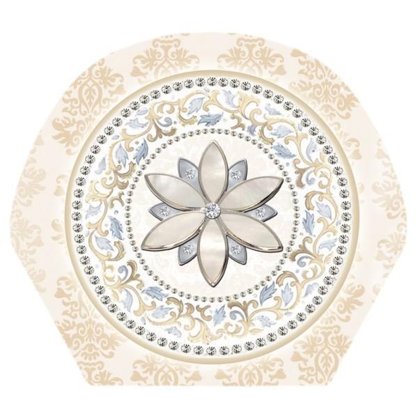 Deko-Bild, Blüte, 18,5 x 20,5 cm, 2er Set