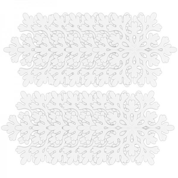 Winter-Deko, Rohling, Eiskristall 1, Ø 9,5cm, weiß, 14 Stück
