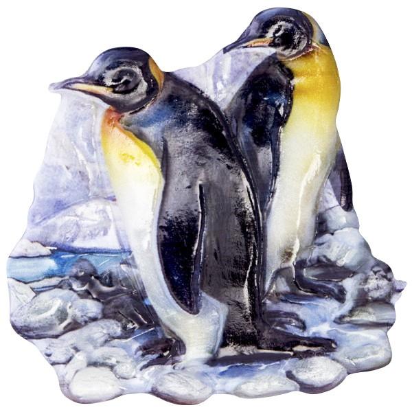 Wachsornament Tiere im Winter 6, farbig, geprägt, 7cm