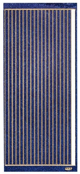 Microglitter-Sticker, Linien, 5mm, blau