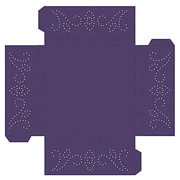 Prickelpodest für Deko-Lichtwürfel, 11x11cm, dunkelviolett