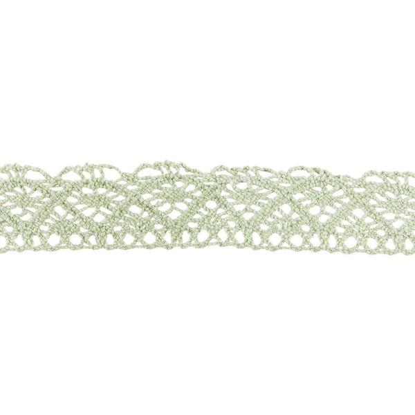 Häkelspitze Design 1, 2,1cm breit, 2m lang, grün