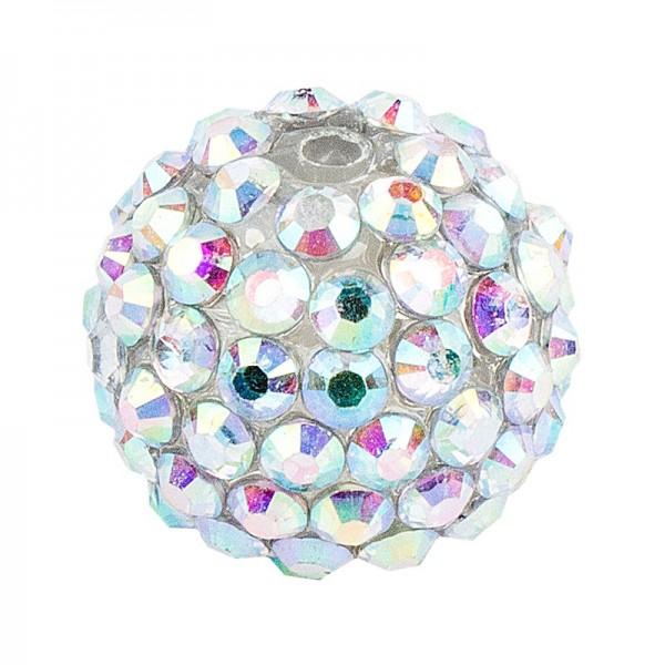 Kristall-Perlen, Ø 14mm, klar-irisierend, 10 Stück
