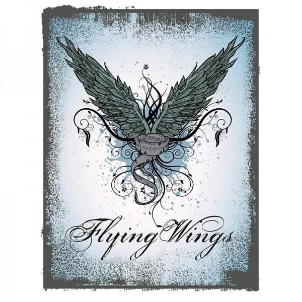 Color Bügeltransfers, DIN A4, Flying Wings, Flügel