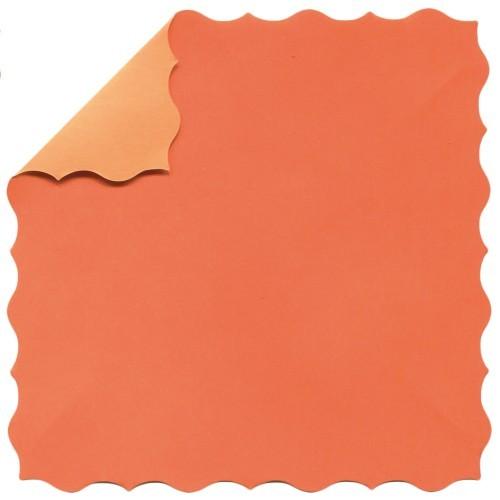 DuoColor Stanz-Faltpapiere, 10 x 10 cm, orange, Büttenrand, 100 Blatt