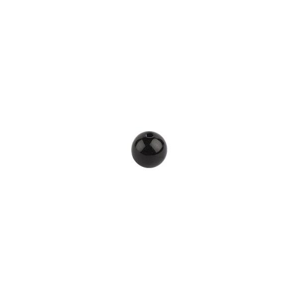 Perlen, Ø 10mm, schwarz, 50 Stück