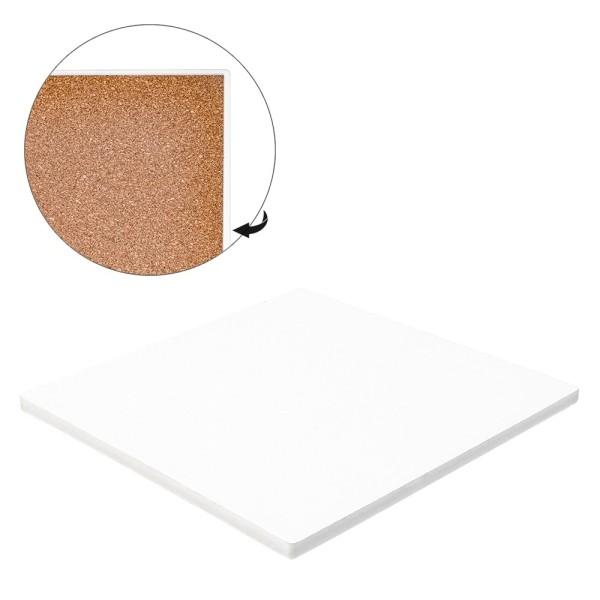 Keramik-Fliese, Quadrat, 15cm x 15cm, weiß, unbehandelt