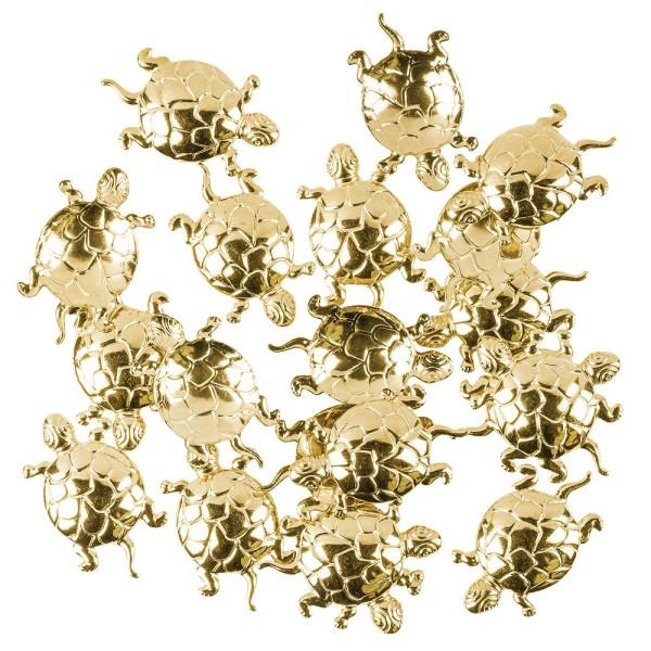 Messing Ornamente, Schildkröte, 20 Stück