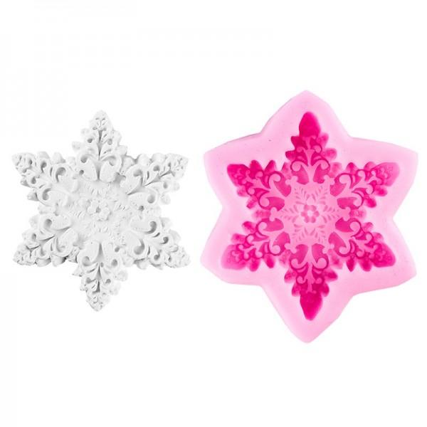 Silikon-Form, Eiskristall, 9cm x 7,6cm