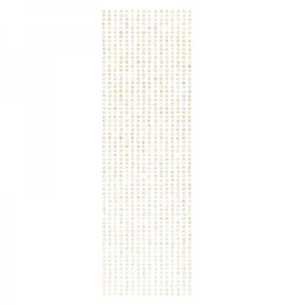 Schmuckstein-Bordüren, selbstklebend, facettiert, irisierend, Ø4mm, 29cm, 16 Stück, hellgrün