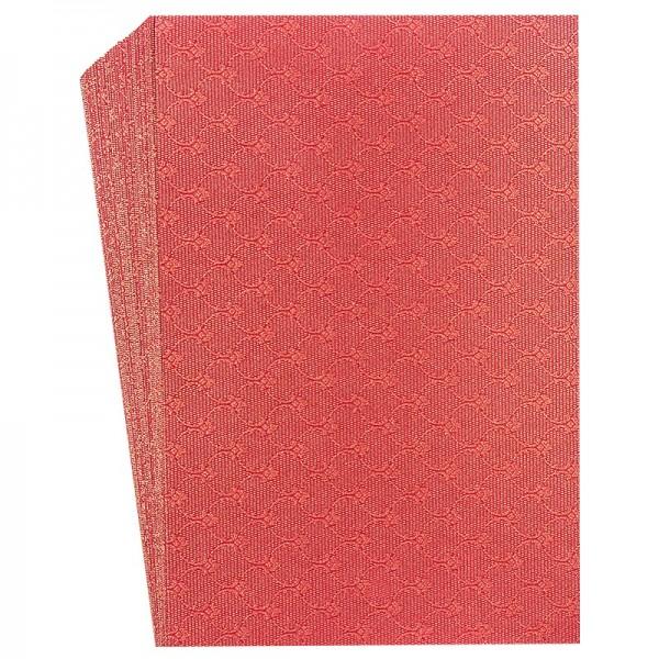 "Faltpapiere ""Nova 22"", 10x15cm, 50 Stück, rot-gold"